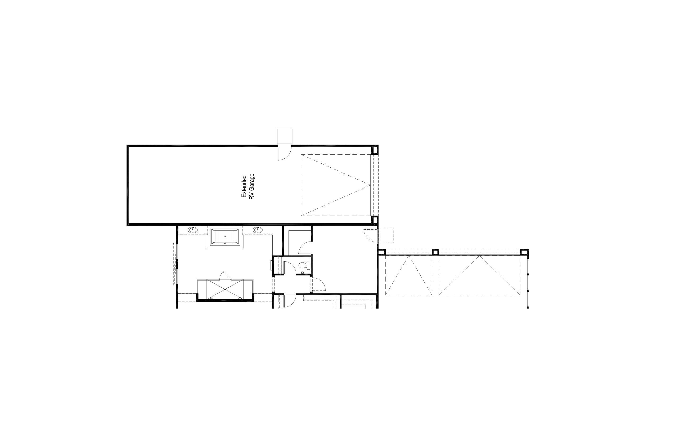 Plan 1 - Opt Extended RV Garage